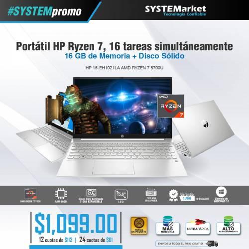 NOTEBOOK HP 15-EH1021LA AMD RYZEN 7 5700U